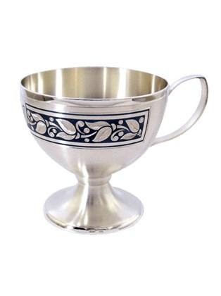 Серебряная кофейная чашка