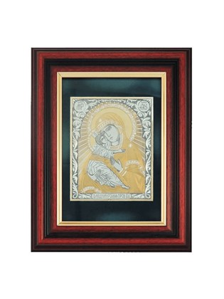 Икона серебряная Пресвятой Богородицы Владимирская