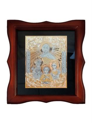Икона серебряная Вера, Надежда, Любовь и мать их София