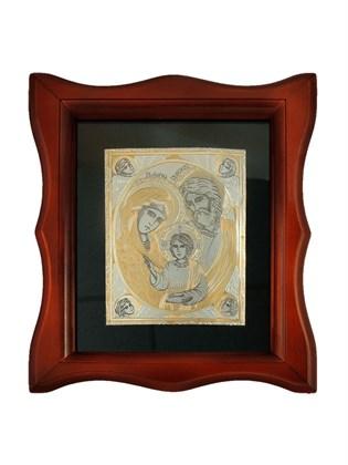 Икона серебряная Святое Семейство