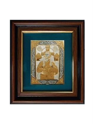 Икона серебряная Иисус - Добрый Пастырь