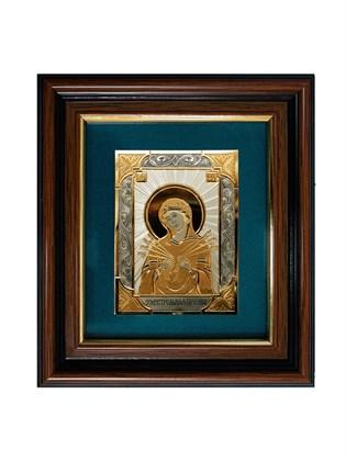 Икона серебряная Пресвятой Богородицы Семистрельная