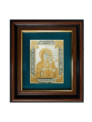 Икона серебряная Пресвятой Богородицы Смоленская