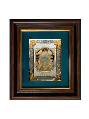 Икона серебряная Спас Нерукотворный