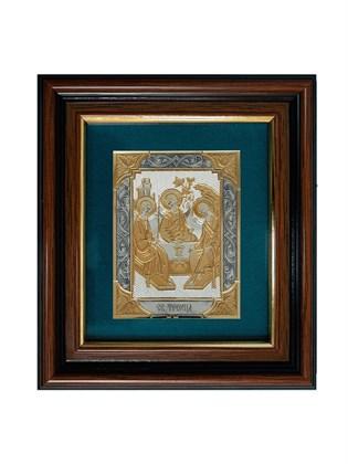 Икона серебряная Святая Троица