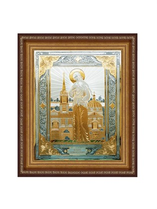 Икона серебряная Блаженная Ксения Петербургская