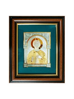 Икона серебряная Святой мученик Виктор