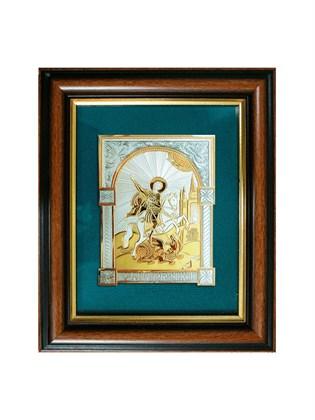 Икона серебряная Георгий Победоносец