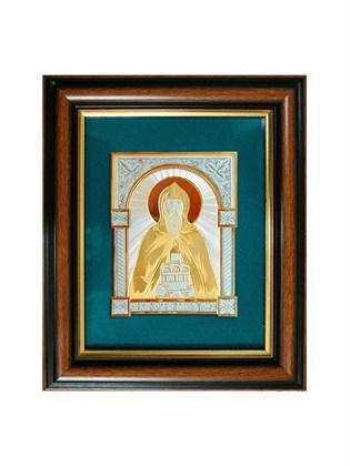 Икона серебряная Святой князь Даниил Московский