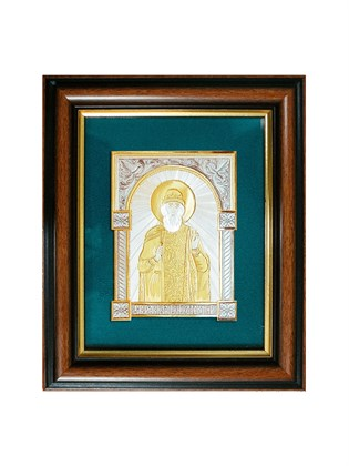 Икона серебряная Святой Равноапостольный князь Владимир