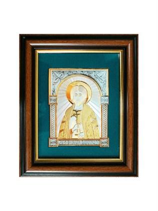 Икона серебряная Святой князь Игорь