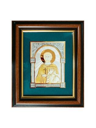 Икона серебряная Святой мученик Евгений