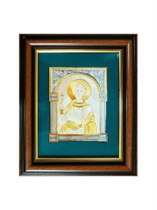 Икона серебряная Святой мученик Леонид