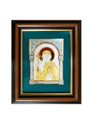 Икона серебряная Святая равноапостольная княгиня Ольга