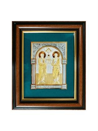Икона серебряная Святые Апостолы Петр и Павел