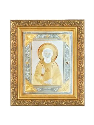 Икона серебряная Сергий Радонежский