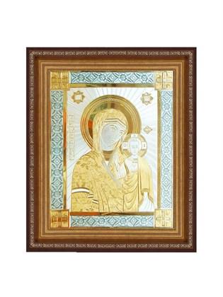 Икона серебряная Пресвятой Богородицы Казанская