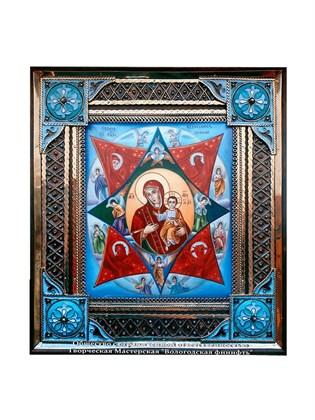 Икона финифть Неопалимая Купина