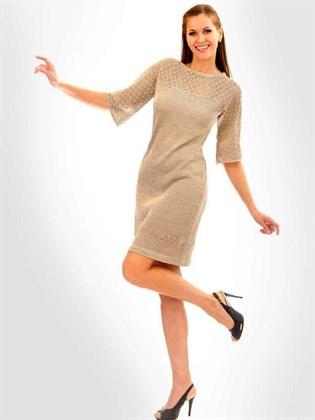 Платье трикотажное льняное