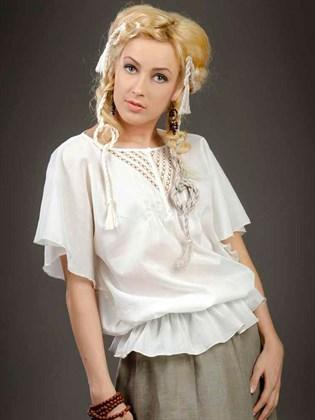 Блузка с кружевным декором