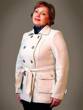 Куртка из валяной шерсти с добавлением льна