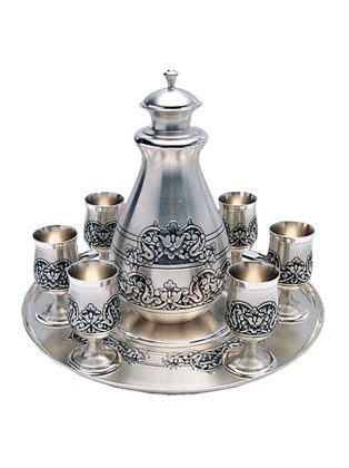 Коньячный набор из серебра