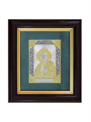 Икона серебряная Александр Невский