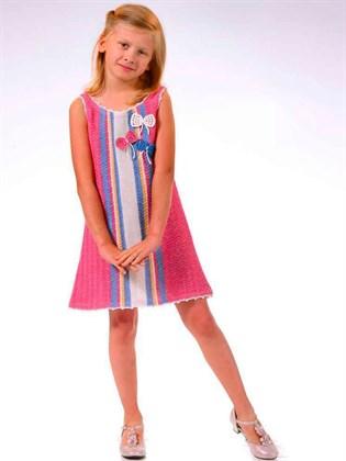 Платье льняное детское