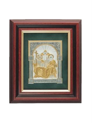 Икона серебряная Святая Троица Новозаветная