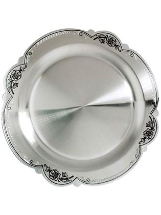 Тарелка десертная серебряная