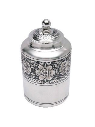 Чайница серебряная