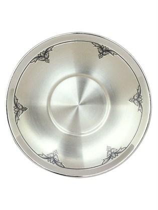Блюдце серебряное