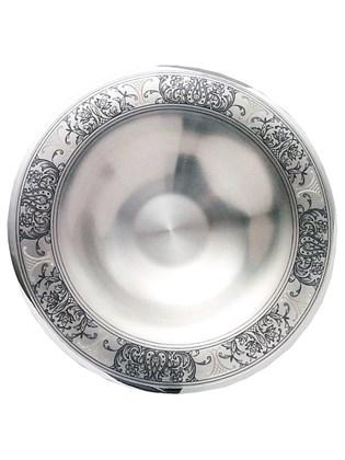 Ваза-сухарница серебряная