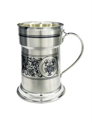 Кружка серебряная для пива