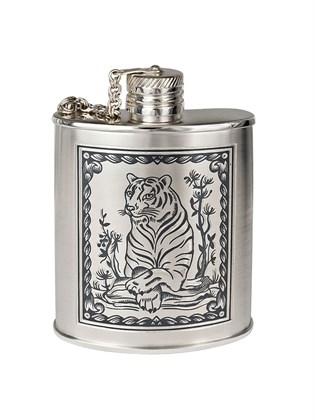 """Фляжка серебряная """"Год тигра"""""""