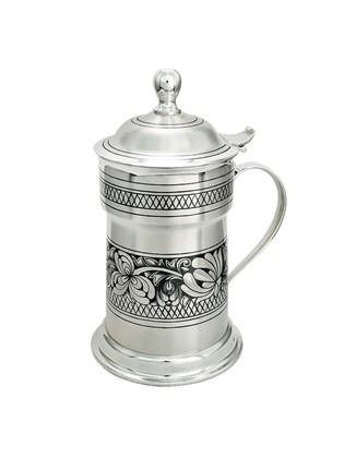 Кружка серебряная для воды с крышкой