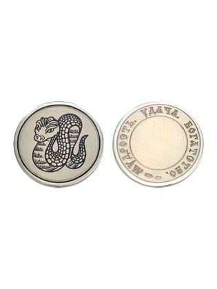 """Монета сувенирная серебряная """"Змейка"""""""