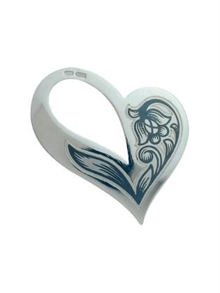 """Серебряная подвеска """"Цветок любви"""""""