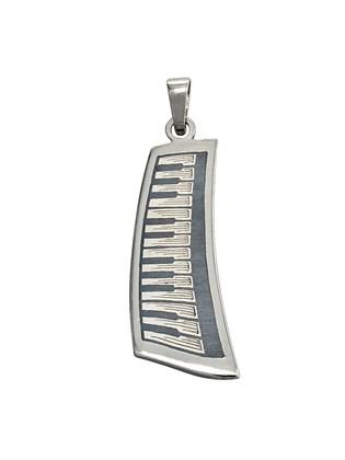"""Подвеска из серебра """"Пиано"""""""