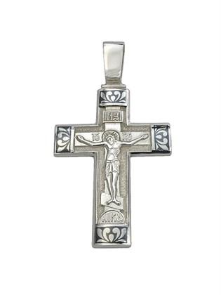 Подвеска-крест из серебра