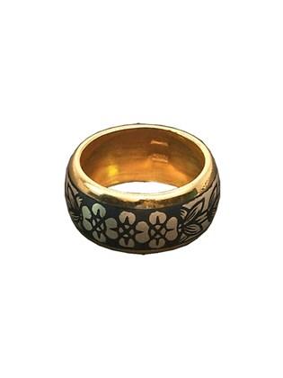 Кольцо серебряное с чернением