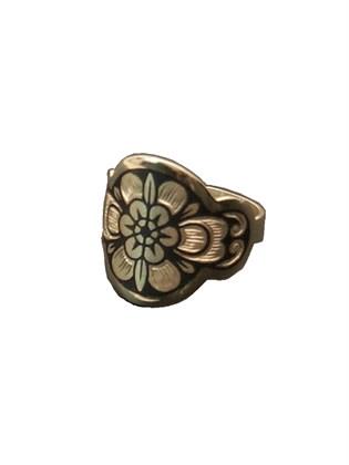 Кольцо из серебра  чернением