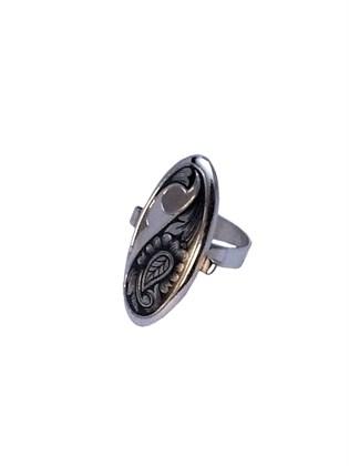 Серебряное кольцо с черневым декором