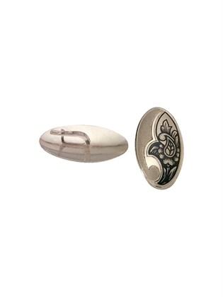 Серебряные серьги с черневым орнаментом