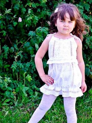 Детское платье на лямочках