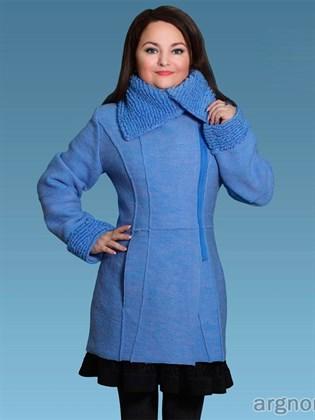 Пальто из валяной шерсти с добавлением льна
