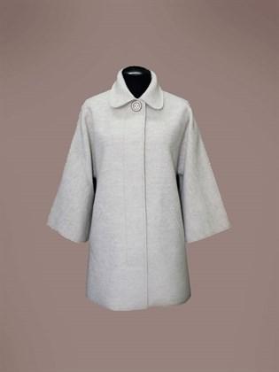 Валяное пальто из шерсти и льна