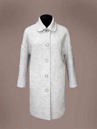 Пальто валяное из шерсти с добавлением льна