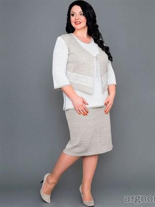 Льняная юбка средней длины