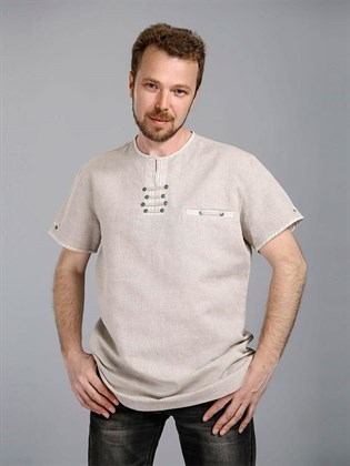 Мужская рубашка изо льна